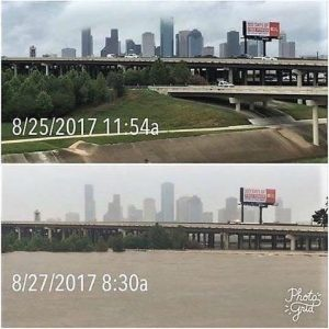 Hurricane Harvey before and after